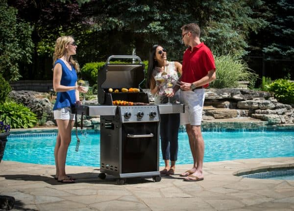 Baron 320 bbq feature family at pool bbq