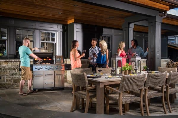 Broil King Impeial BBQ dinner party outside
