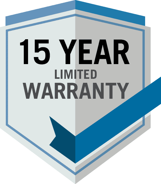 15 year warranty logo