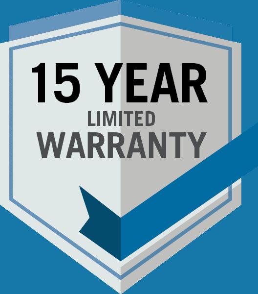 15 year warranty logo