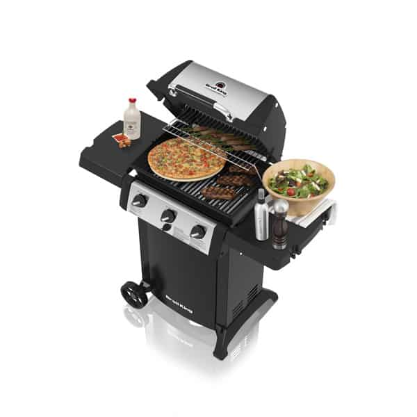 Broil King 310 bbq with food